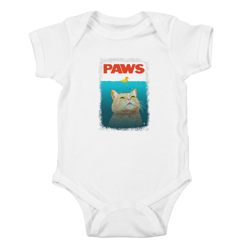 Paws! Kids Baby Bodysuit by cmatthesart's Artist Shop