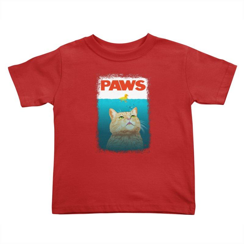 Paws! Kids Toddler T-Shirt by cmatthesart's Artist Shop