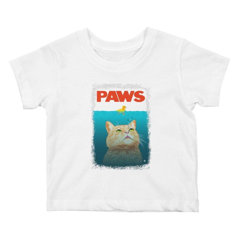 Paws! Kids Baby T-Shirt by cmatthesart's Artist Shop