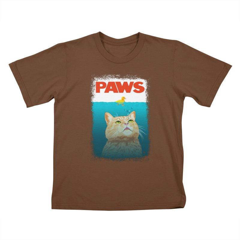 Paws! Kids T-shirt by cmatthesart's Artist Shop