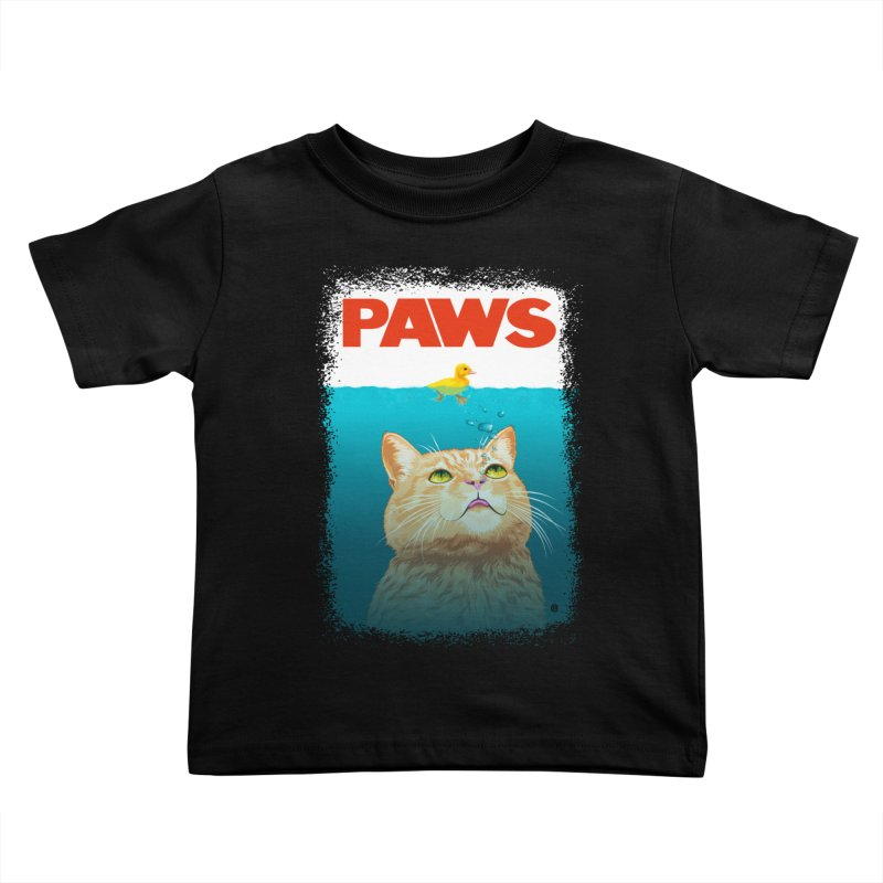 Paws! Kids Toddler T-Shirt by cmatthesart's Artist Shop