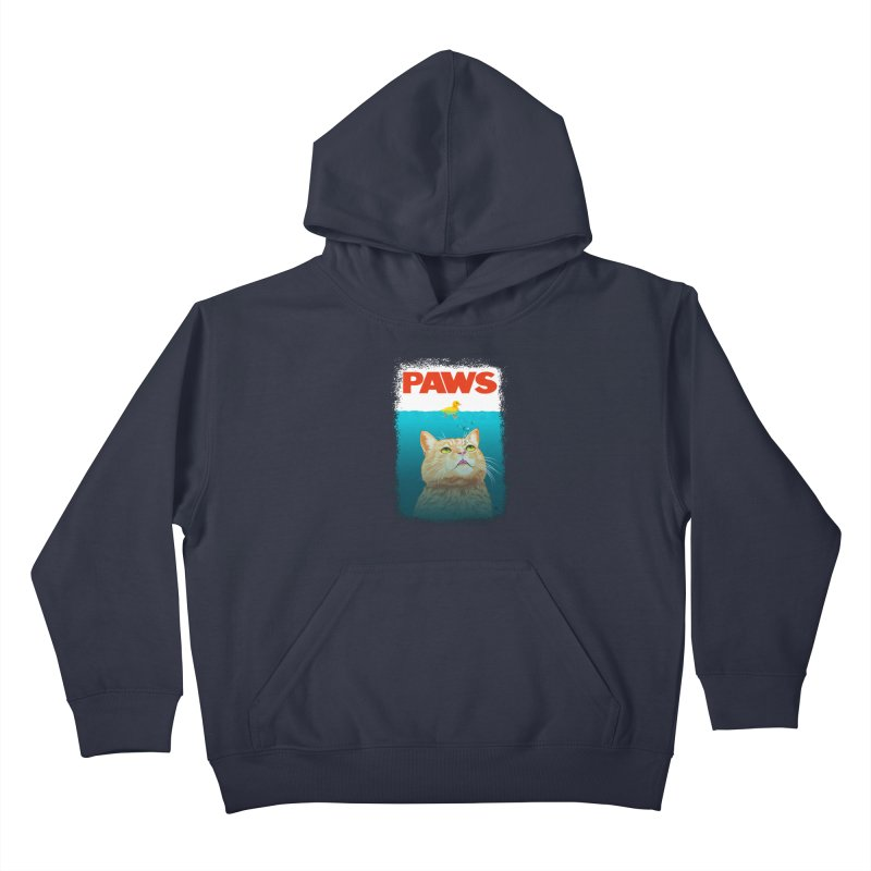 Paws! Kids Pullover Hoody by cmatthesart's Artist Shop