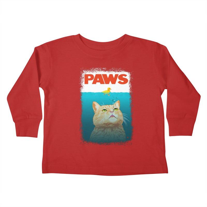Paws! Kids Toddler Longsleeve T-Shirt by cmatthesart's Artist Shop