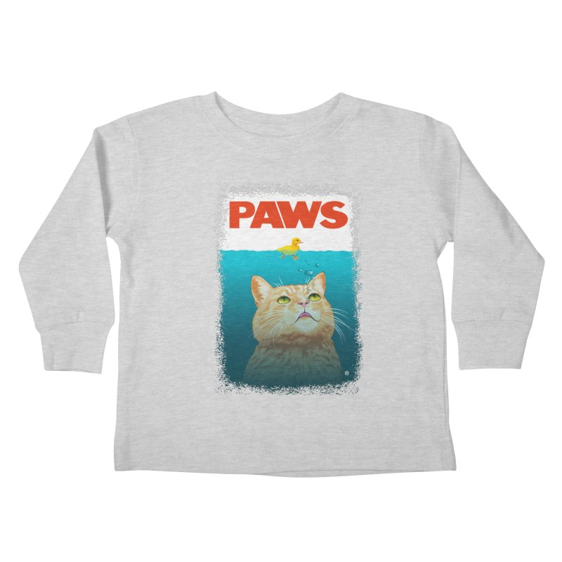 Paws! Kids Toddler Longsleeve T-Shirt by cmatthesart's Artist Shop