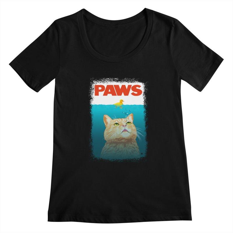 Paws! Women's Scoopneck by cmatthesart's Artist Shop