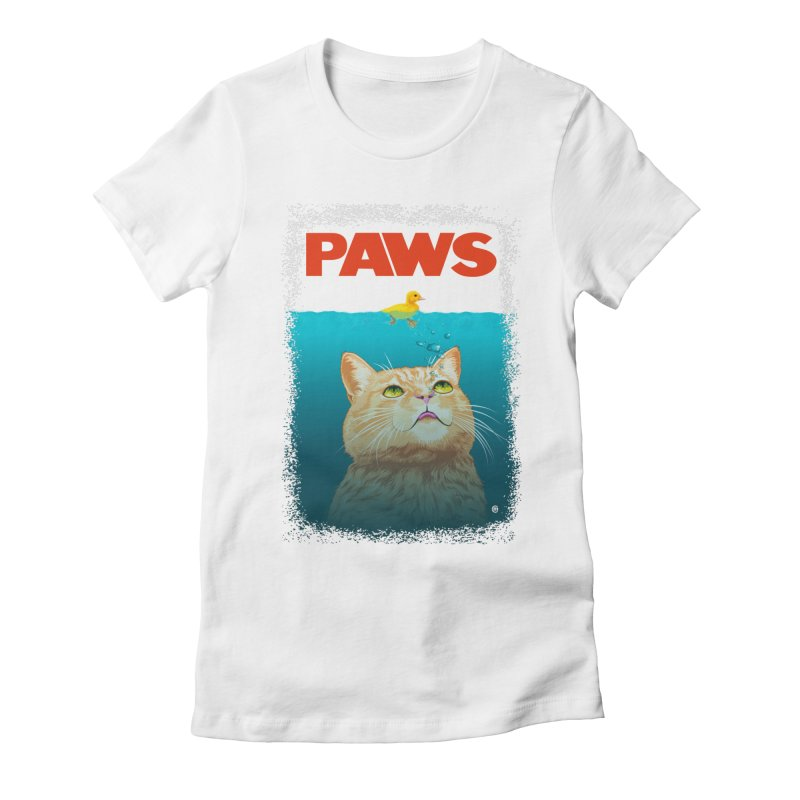 Paws! Women's Fitted T-Shirt by cmatthesart's Artist Shop