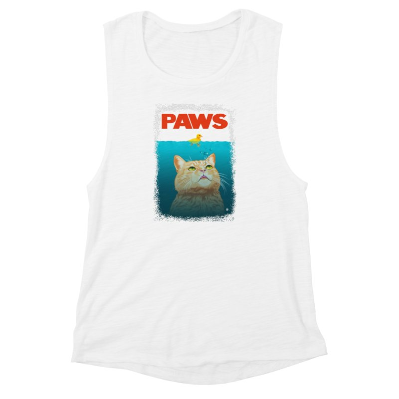 Paws! Women's Muscle Tank by cmatthesart's Artist Shop