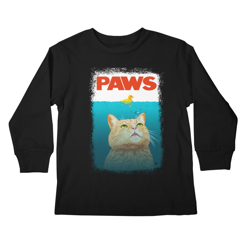 Paws! Kids Longsleeve T-Shirt by cmatthesart's Artist Shop