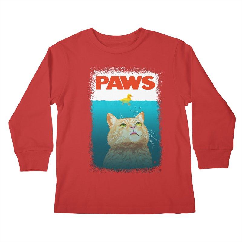 Paws! Kids Longsleeve T-Shirt by cmatthesart's Artist Shop