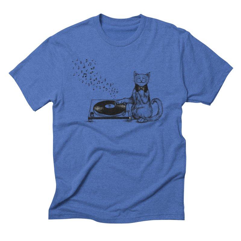 Music Master Men's Triblend T-Shirt by cmatthesart's Artist Shop