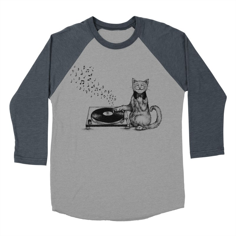 Music Master Men's Baseball Triblend T-Shirt by cmatthesart's Artist Shop