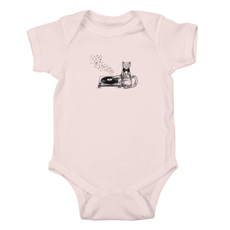 Music Master Kids Baby Bodysuit by cmatthesart's Artist Shop