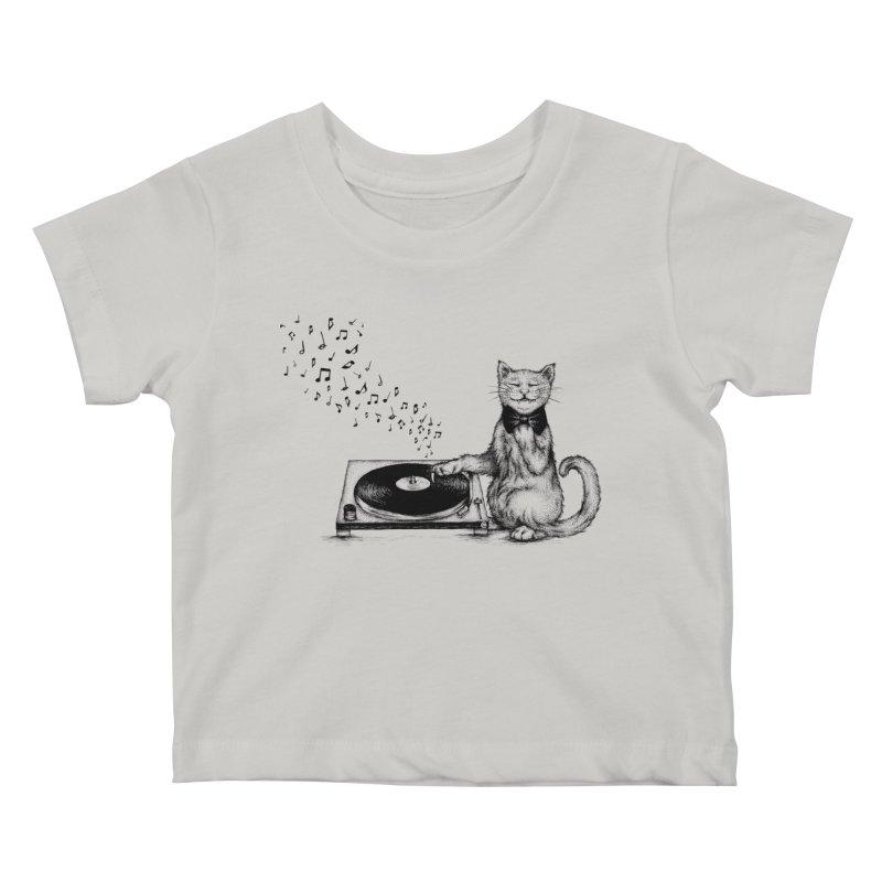 Music Master Kids Baby T-Shirt by cmatthesart's Artist Shop