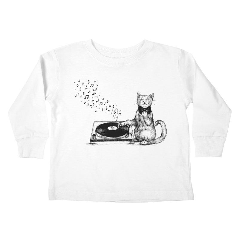Music Master Kids Toddler Longsleeve T-Shirt by cmatthesart's Artist Shop