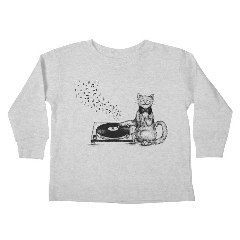 Music Master Kids Toddler Longsleeve T-Shirt by cmatthesart's Artist Shop