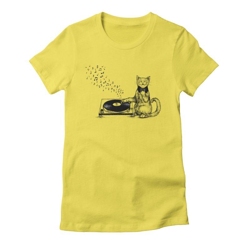 Music Master Women's Fitted T-Shirt by cmatthesart's Artist Shop