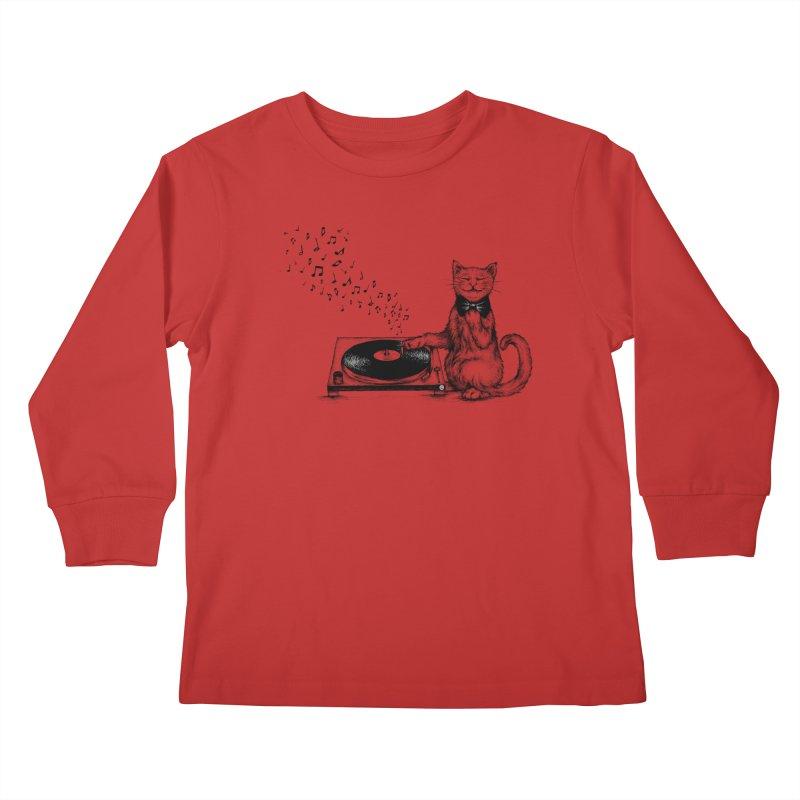 Music Master Kids Longsleeve T-Shirt by cmatthesart's Artist Shop