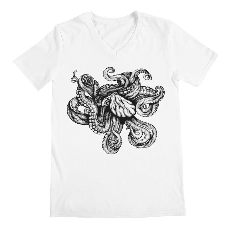 Octopus Men's V-Neck by cmatthesart's Artist Shop