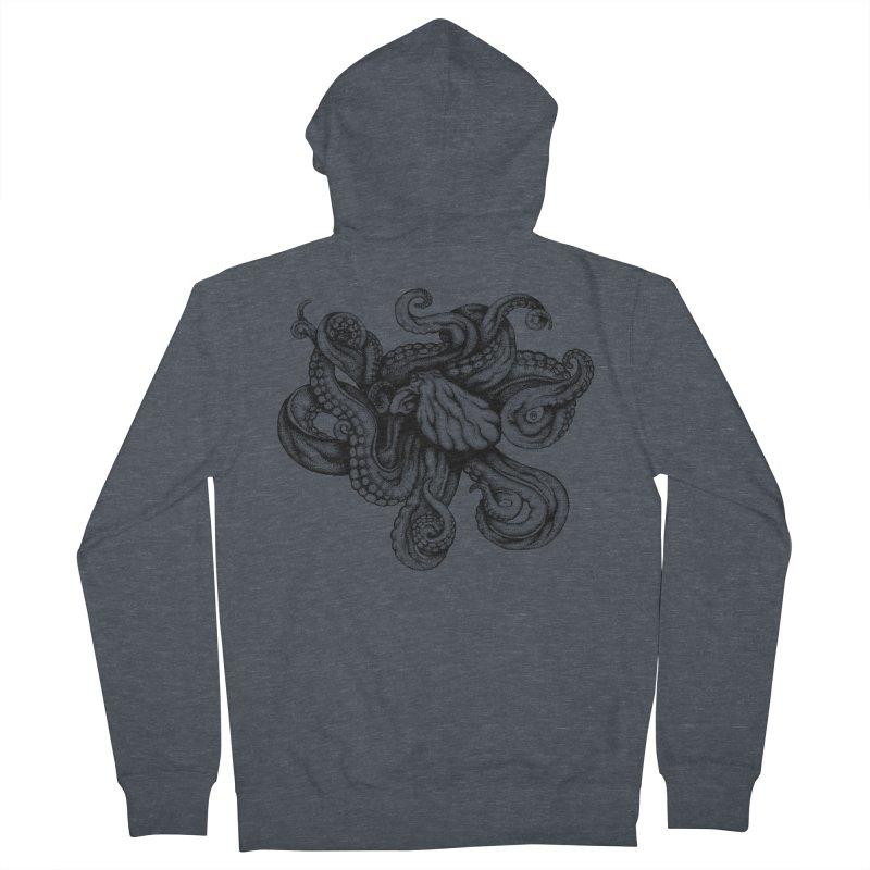 Octopus Men's Zip-Up Hoody by cmatthesart's Artist Shop
