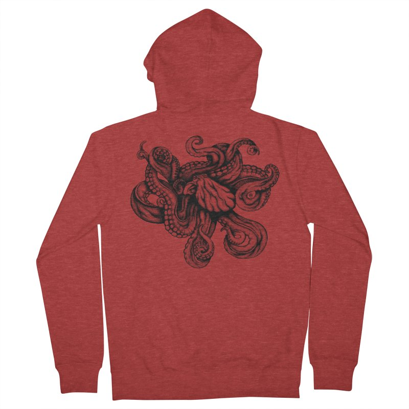 Octopus Men's Zip-Up Hoody by cmatthesart's Artist Shop