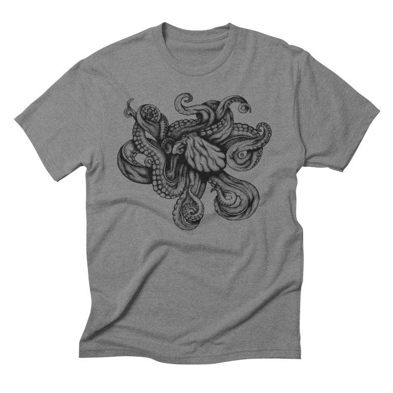 Octopus Men's Triblend T-Shirt by cmatthesart's Artist Shop