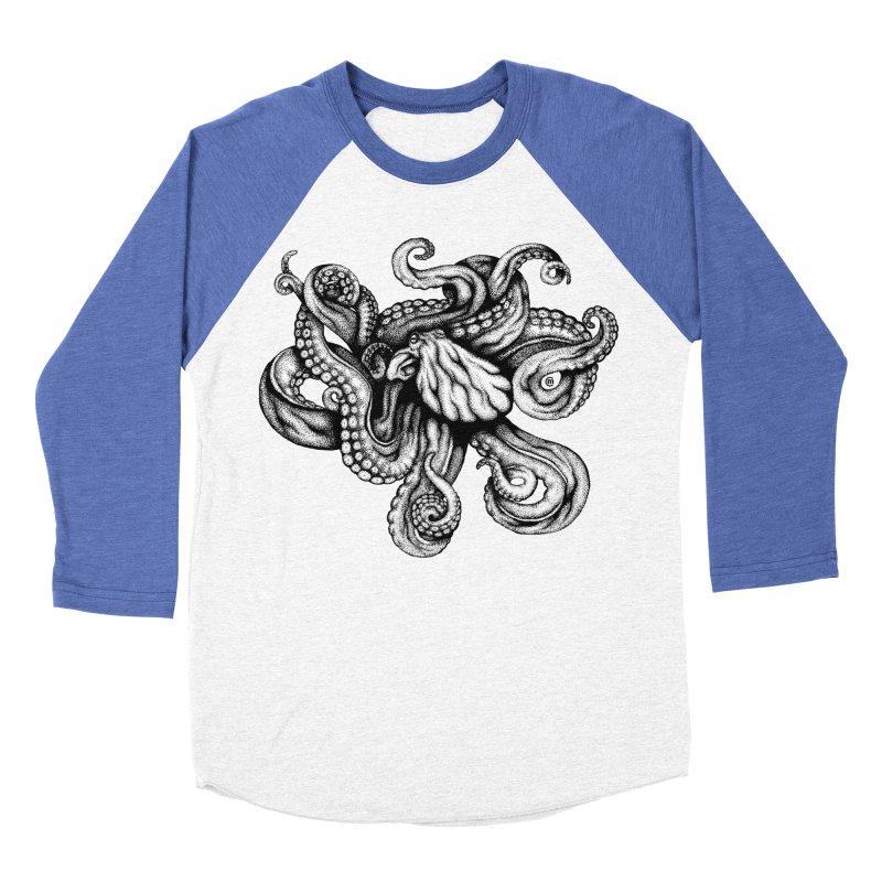 Octopus Women's Baseball Triblend T-Shirt by cmatthesart's Artist Shop