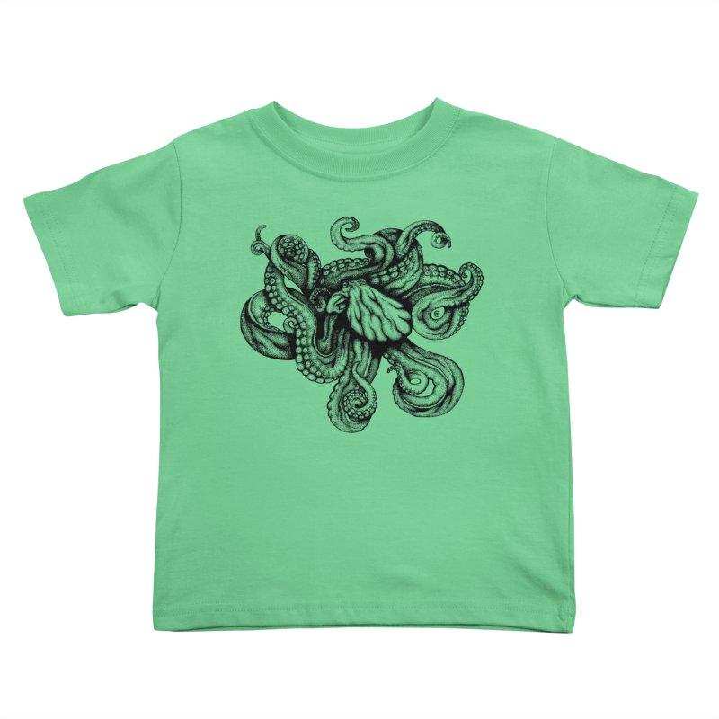 Octopus Kids Toddler T-Shirt by cmatthesart's Artist Shop