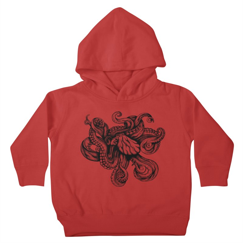 Octopus Kids Toddler Pullover Hoody by cmatthesart's Artist Shop