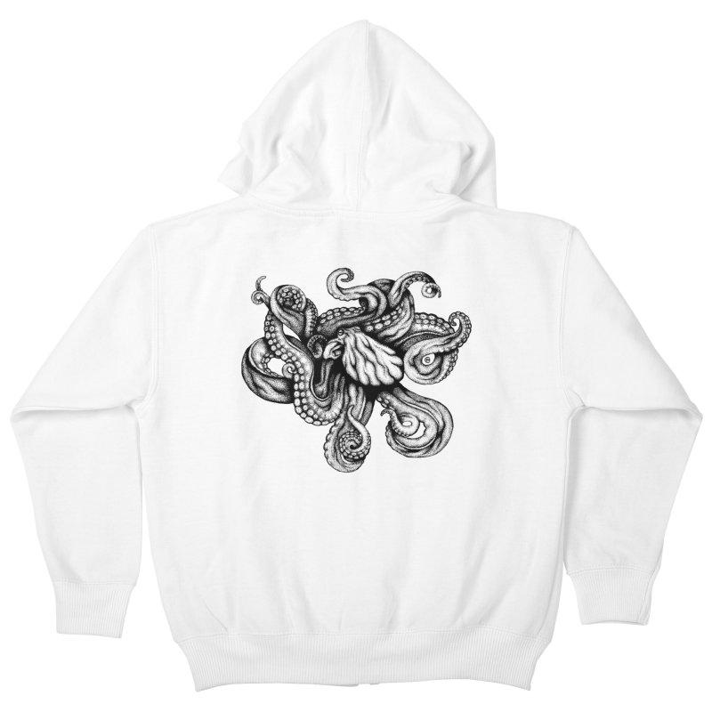 Octopus Kids Zip-Up Hoody by cmatthesart's Artist Shop