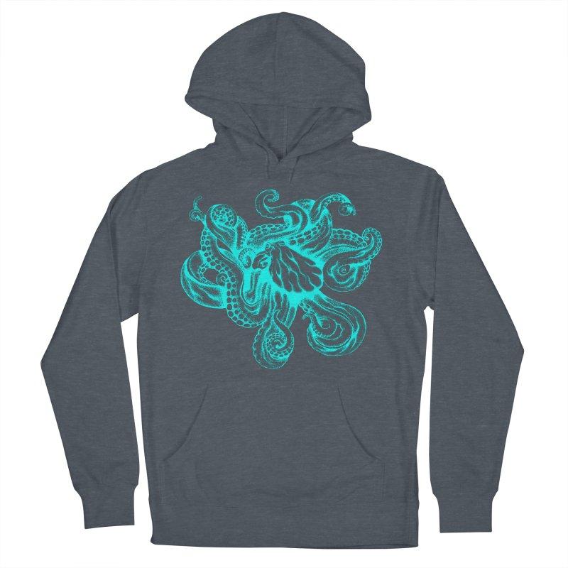 Octopus (Neon) Women's Pullover Hoody by cmatthesart's Artist Shop