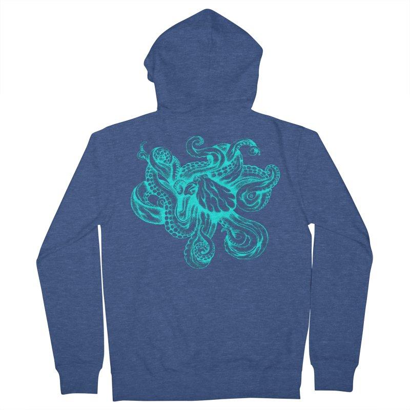 Octopus (Neon) Women's Zip-Up Hoody by cmatthesart's Artist Shop