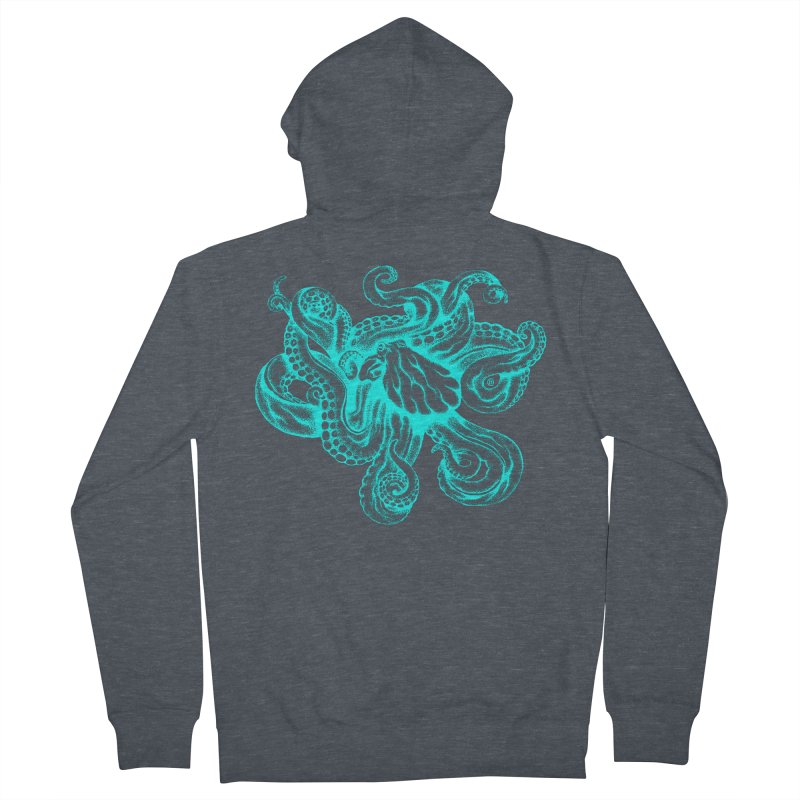 Octopus (Neon) Men's Zip-Up Hoody by cmatthesart's Artist Shop