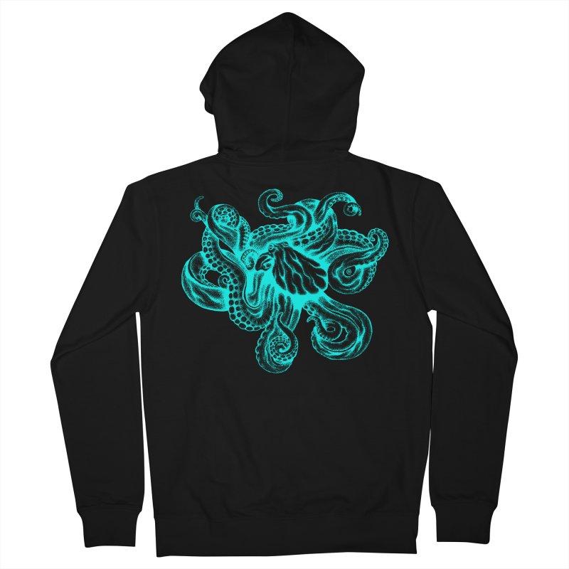 Octopus (Neon) Men's Zip-Up Hoody by cmatthesart's Artist Shop