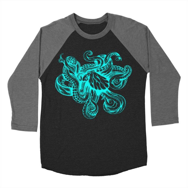 Octopus (Neon) Women's Baseball Triblend T-Shirt by cmatthesart's Artist Shop