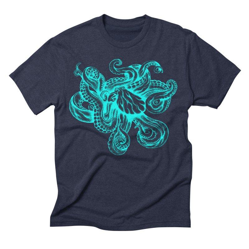 Octopus (Neon) Men's Triblend T-shirt by cmatthesart's Artist Shop