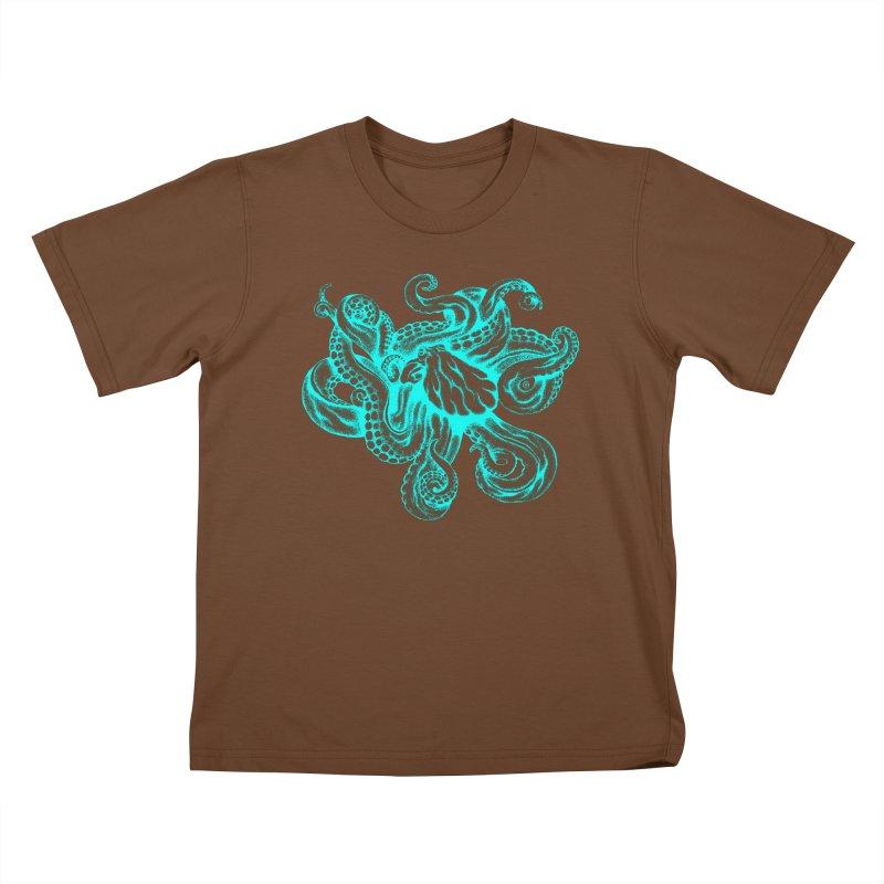 Octopus (Neon) Kids T-shirt by cmatthesart's Artist Shop