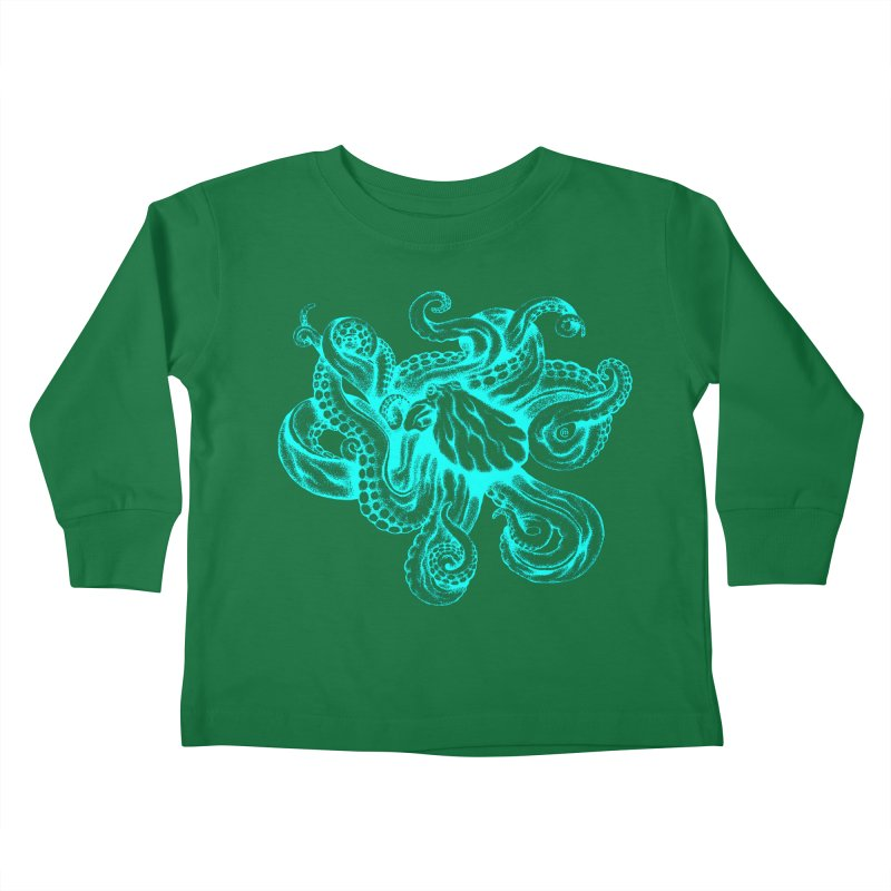 Octopus (Neon) Kids Toddler Longsleeve T-Shirt by cmatthesart's Artist Shop