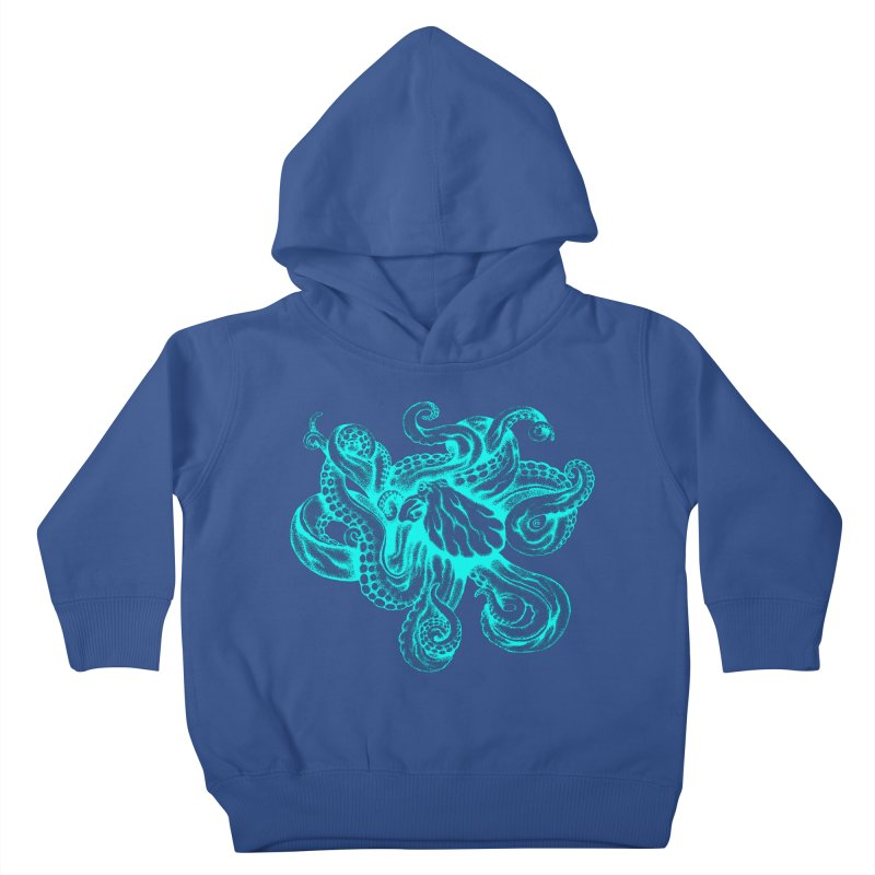 Octopus (Neon) Kids Toddler Pullover Hoody by cmatthesart's Artist Shop