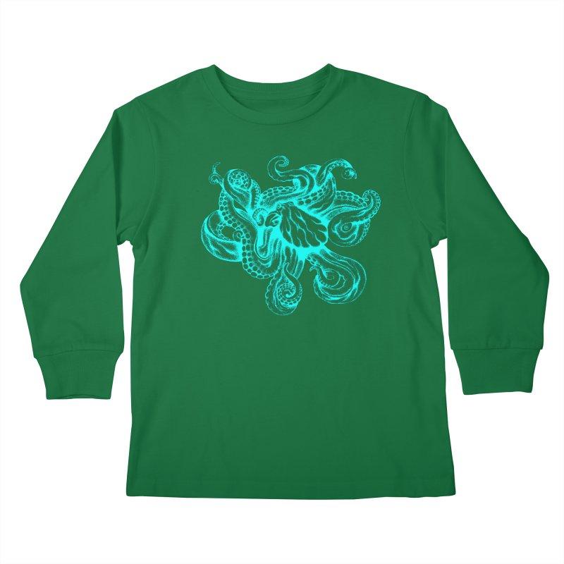 Octopus (Neon) Kids Longsleeve T-Shirt by cmatthesart's Artist Shop