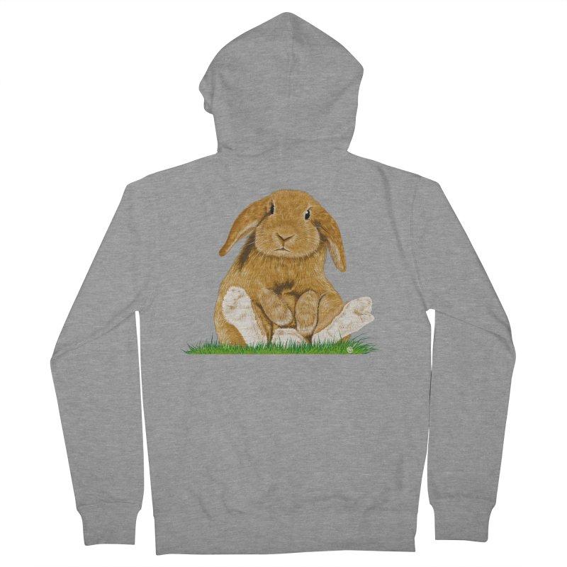 Bunny Women's Zip-Up Hoody by cmatthesart's Artist Shop