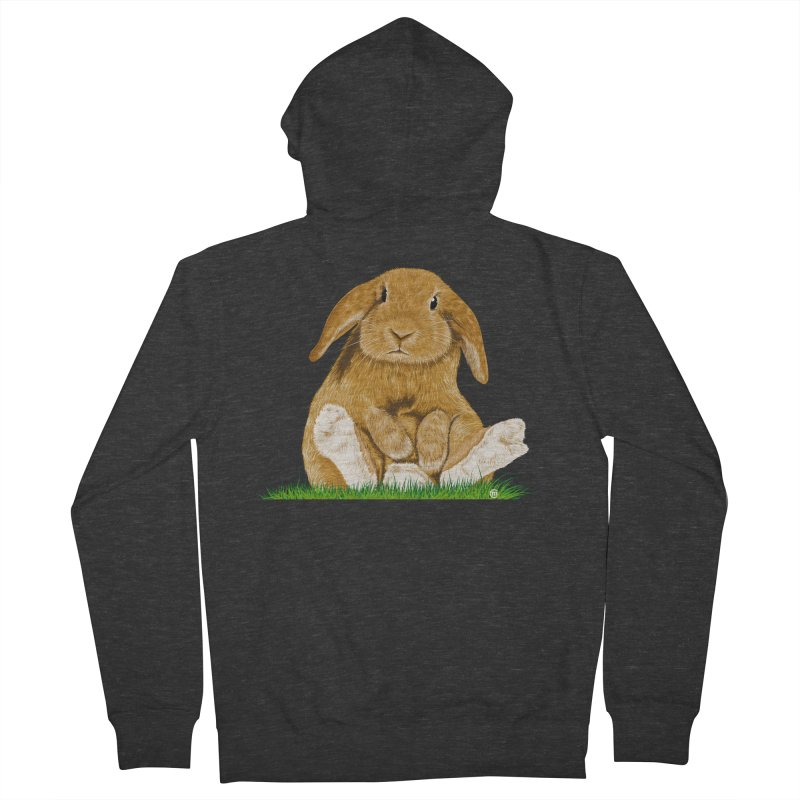 Bunny Men's Zip-Up Hoody by cmatthesart's Artist Shop
