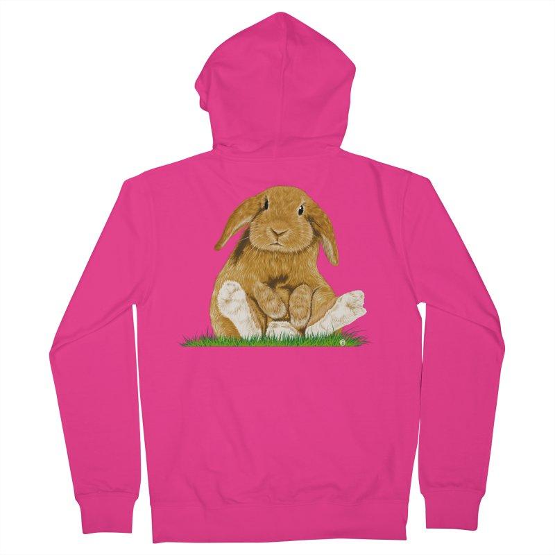 Bunny Men's Zip-Up Hoody by cmatthesart's Artist Shop