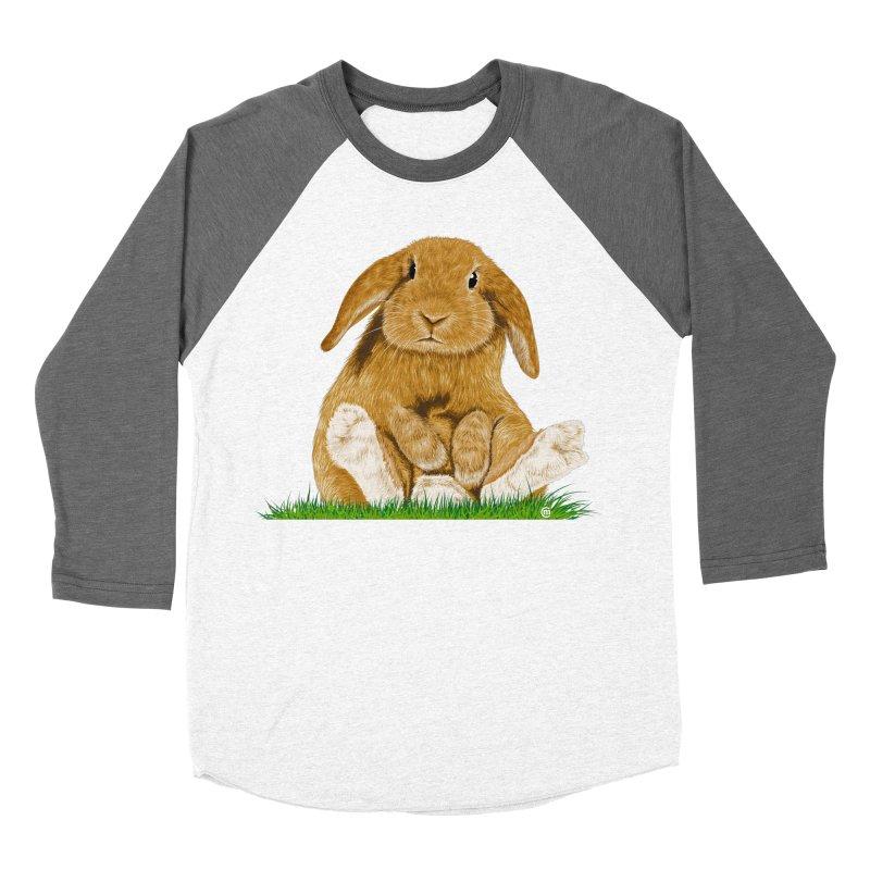 Bunny Men's Baseball Triblend T-Shirt by cmatthesart's Artist Shop