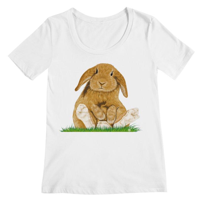 Bunny Women's Scoopneck by cmatthesart's Artist Shop