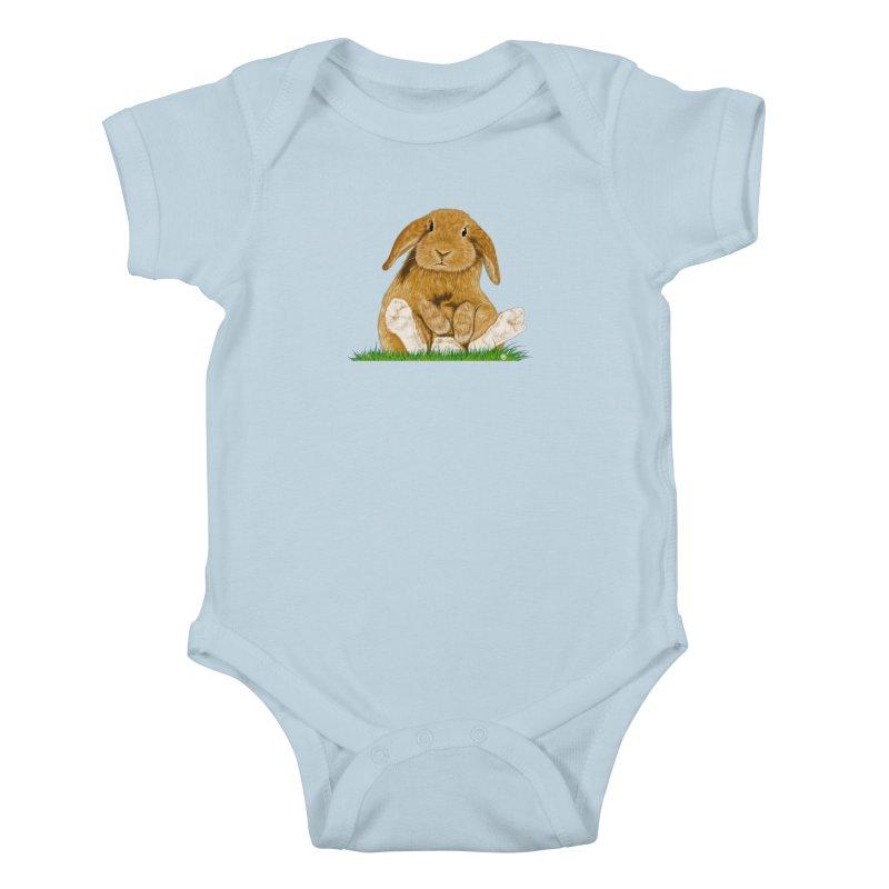 Bunny Kids Baby Bodysuit by cmatthesart's Artist Shop