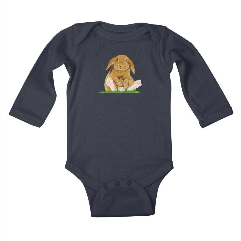 Bunny Kids Baby Longsleeve Bodysuit by cmatthesart's Artist Shop