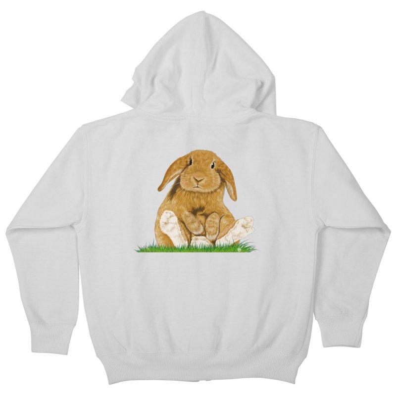 Bunny Kids Zip-Up Hoody by cmatthesart's Artist Shop