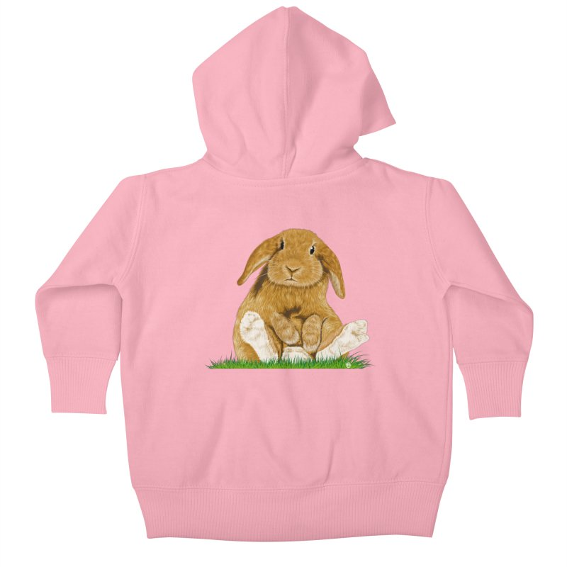 Bunny Kids Baby Zip-Up Hoody by cmatthesart's Artist Shop