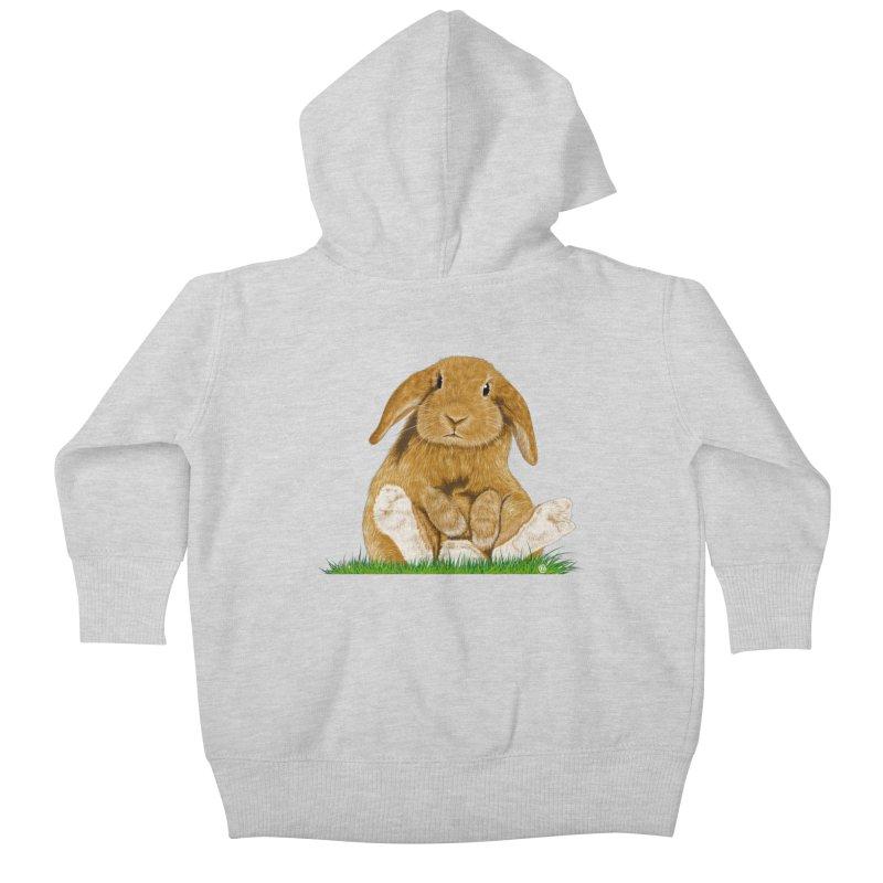 Bunny Kids Baby Zip-Up Hoody by cmatthesart's Artist Shop