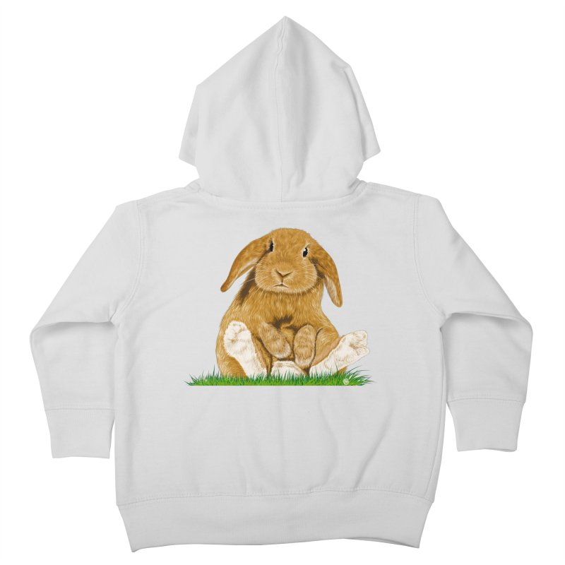 Bunny Kids Toddler Zip-Up Hoody by cmatthesart's Artist Shop